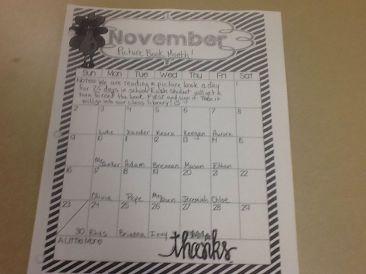 November Calendar for PBM