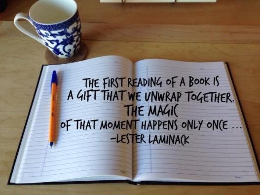 upwrap book quote by Lester Laminack