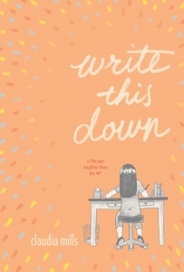 write-this-down-by-claudia-mills